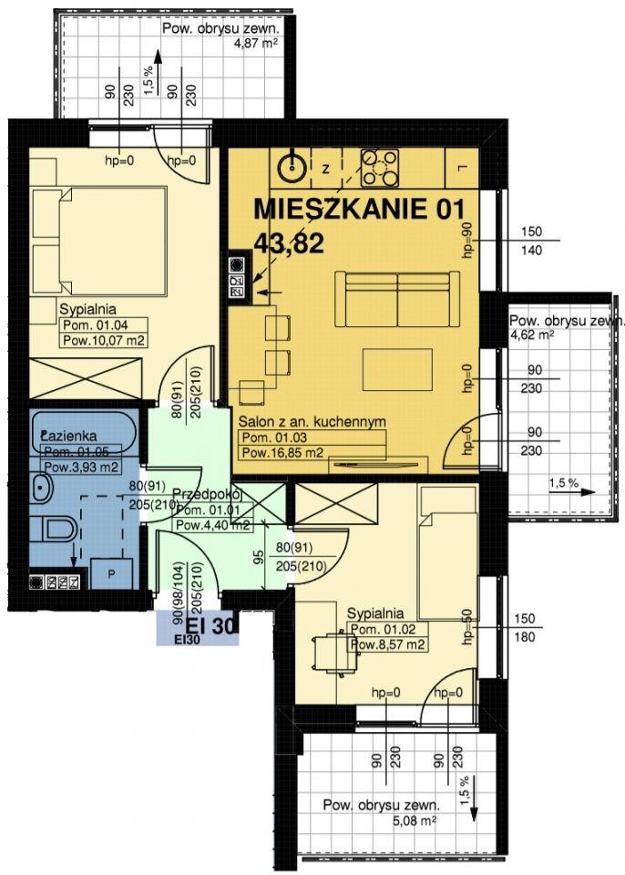 Mieszkanie nr. 1