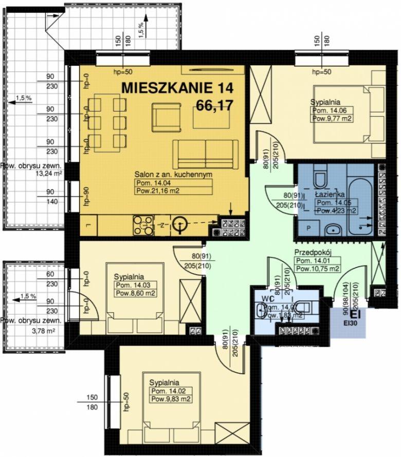 Mieszkanie nr. 14
